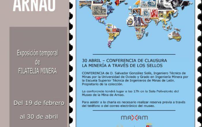Cartel Exposición Filatelia Minera