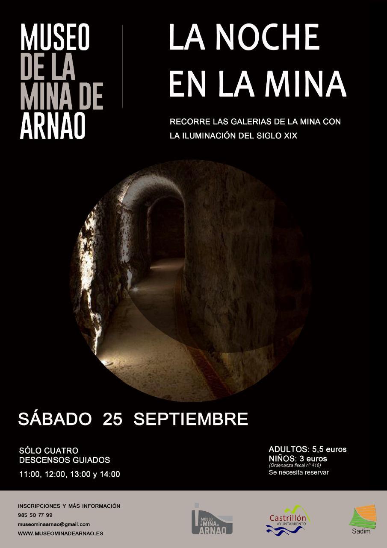 Cartel La Noche En La Mina